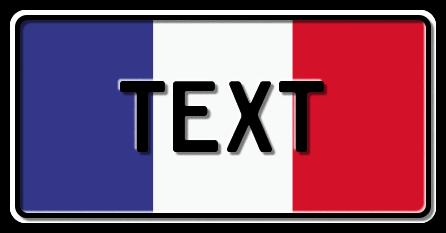 Funschild Frankreich Nationalflagge, 300x150 mm