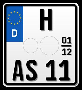 Motorrad EURO Saison-Kennzeichen