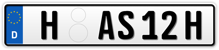 Auto EURO H-Kennzeichen