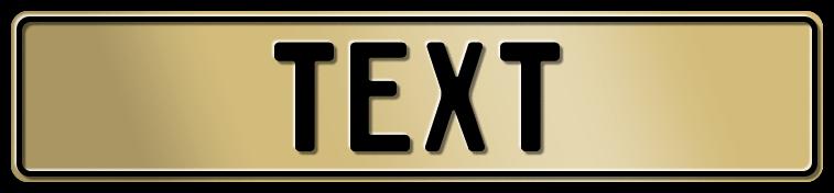 Funschild Gold, 520x110 mm
