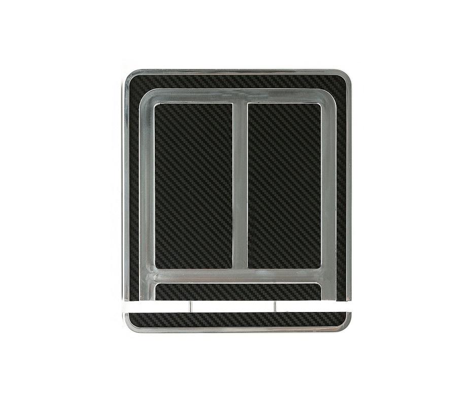 Hochglanz-polierter Kennzeichenhalter Aluminium (180 x 200 mm)