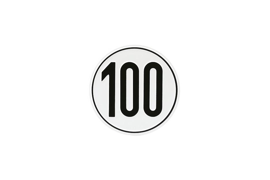Geschwindigkeitsschild, 100 km/h, Aluminium, Ø 200 mm