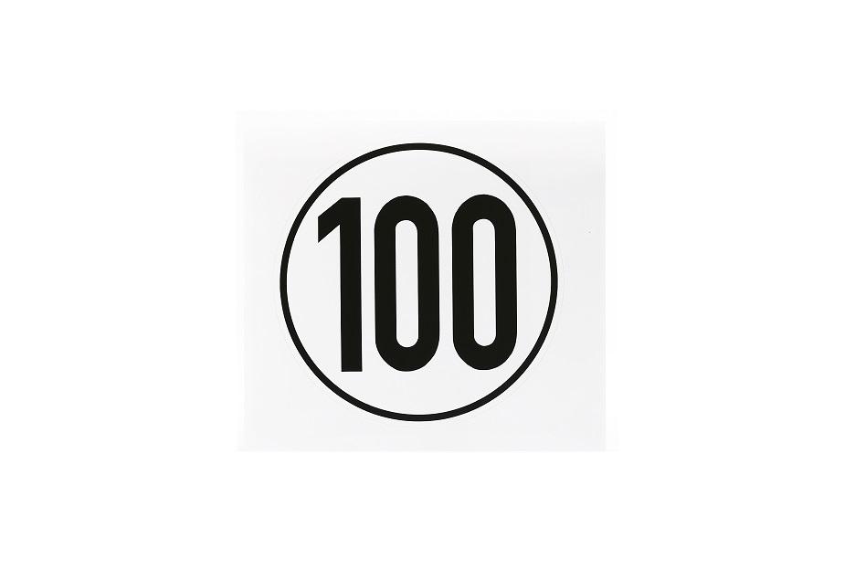 Geschwindigkeitsschild, 100 km/h, selbstklebende Folie, Ø 200 mm