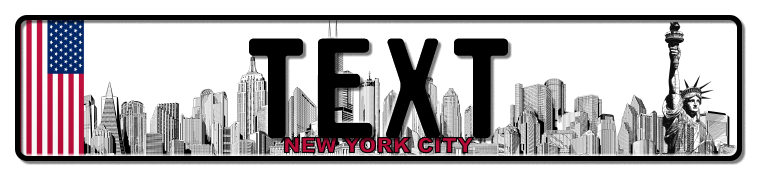 Funschild New York City, 520x110 mm