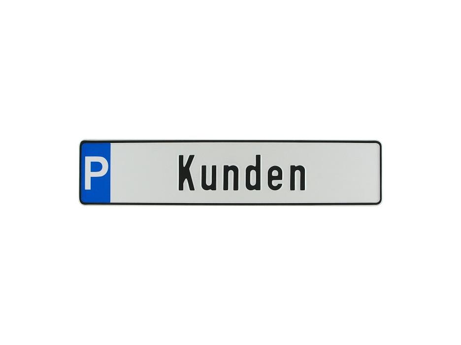 """Parkplatzschild """"Kunden"""""""