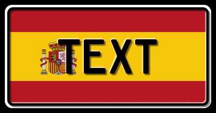 Funschild Spanien Nationalflagge, 300x150 mm