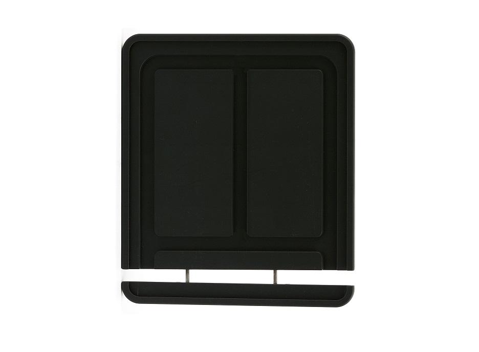 schwarz-matt-pulverbeschichteter Kennzeichenhalter Aluminium (180 x 200 mm)
