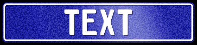 Funschild Glitzer-Blau, 520x110 mm