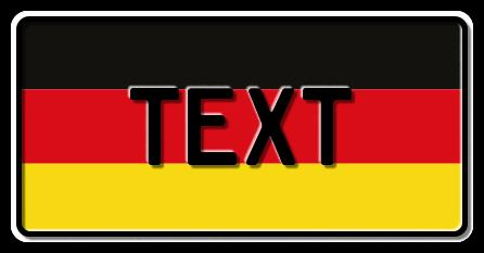 Funschild Deutschland Nationalflagge, 300x150 mm