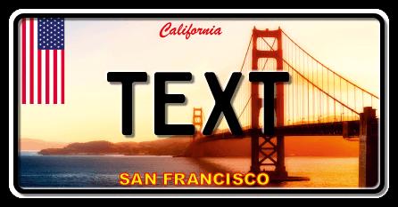 Funschild San Francisco , 300x150 mm