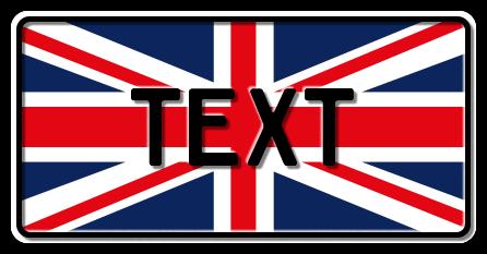 Funschild Großbritannien Nationalflagge, 300x150 mm