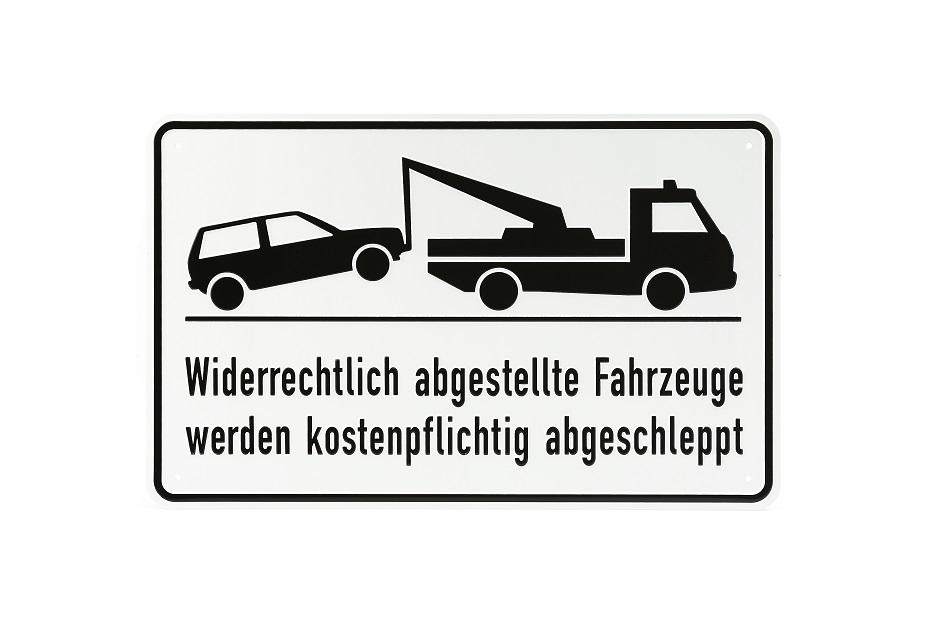 """Hinweisschild """"Parkverbotsschild Abschleppen"""""""