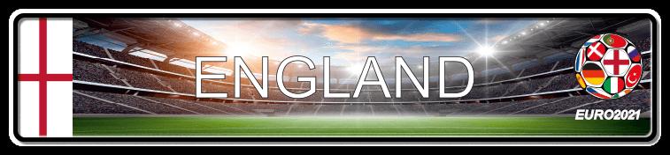 Funschild Fußball EURO EM 2021 England, bedruckt, 520x110 mm