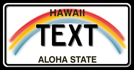 US-Hawaii Rainbow, 300x150 mm