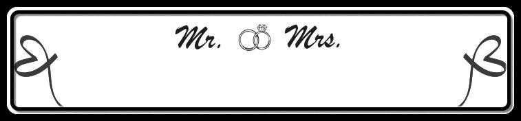 Funschild Mr & Mrs, 520x110 mm