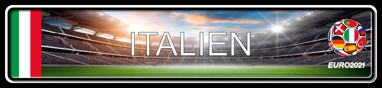 Funschild Fußball EURO EM 2021 Italien, bedruckt, 520x110 mm