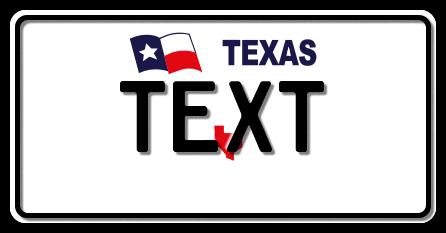 US-Texas Flag & Logo, 300x150 mm