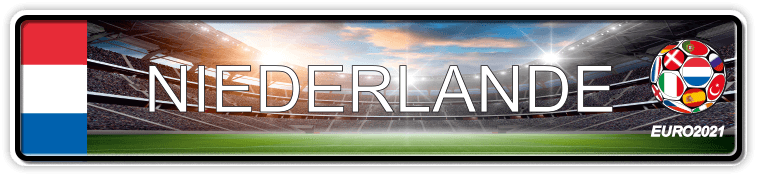 Funschild Fußball EURO EM 2021 Niederlande, bedruckt, 520x110 mm