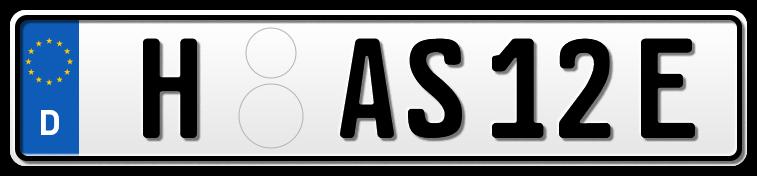 Auto EURO E-Kennzeichen