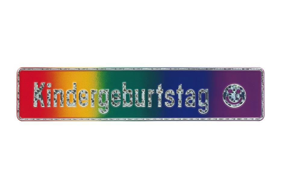 """Fun-Schild """"Kindergeburtstag"""", 520x110 mm"""