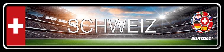 Funschild Fußball EURO EM 2021 Schweiz, bedruckt, 520x110 mm
