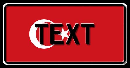 Funschild Türkei Nationalflagge, 300x150mm