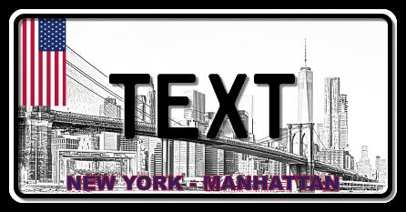 Funschild New York Manhatten, 300x150 mm