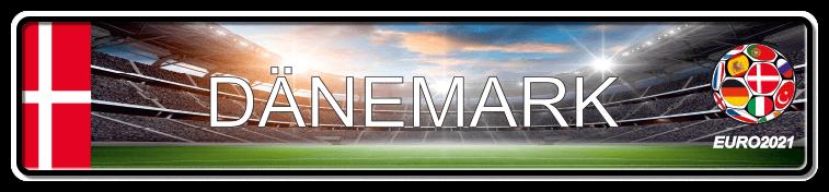 Funschild Fußball EURO EM 2021 Dänemark, bedruckt, 520x110 mm