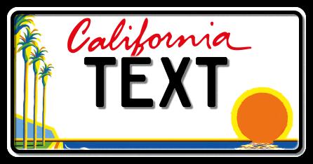 US-California Lipstick palm & sea, 300x150 mm