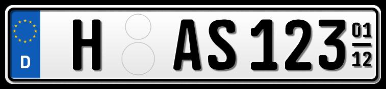 Auto EURO Saison-Kennzeichen