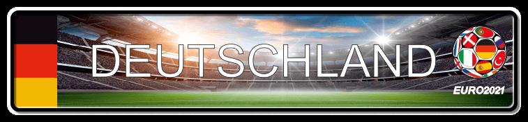 Funschild Fußball EURO EM 2021 Deutschland, bedruckt, 520x110 mm