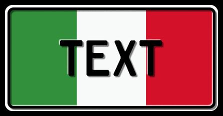 Funschild Italien Nationalflagge, 300x150 mm