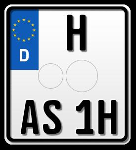 Motorrad EURO H-Kennzeichen