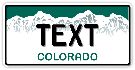 US-Colorado green-white mountains, 300x150 mm