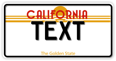 US-California Golden State, 300x150 mm