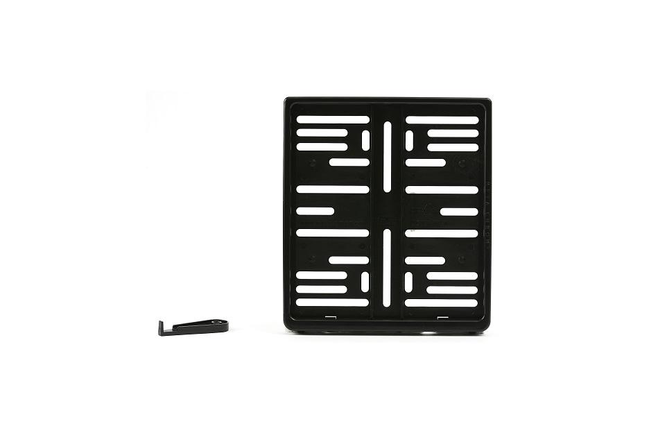 Kennzeichenhalter Meta Chrom (180 x 200 mm), schwarz