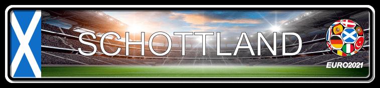 Funschild Fußball EURO EM 2021 Schottland, bedruckt, 520x110 mm