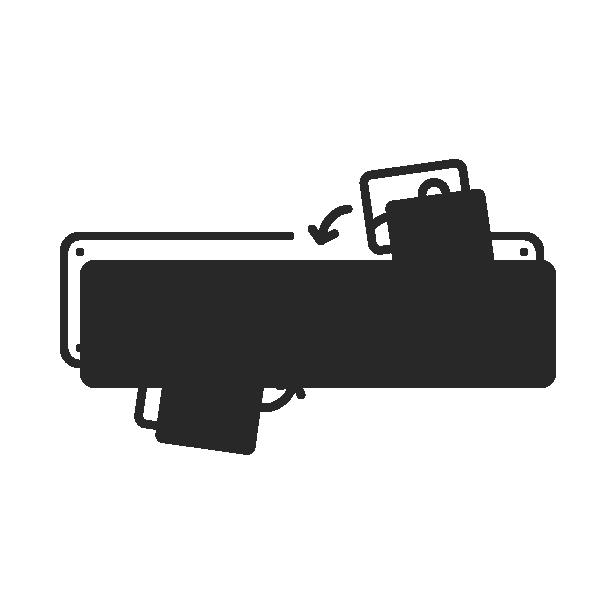 Foto-Digitaldruckschild, 520x110 mm