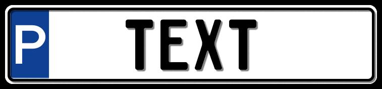 Parkplatzschild, 520x110 mm