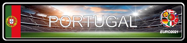 Funschild Fußball EURO EM 2021 Portugal, bedruckt, 520x110 mm