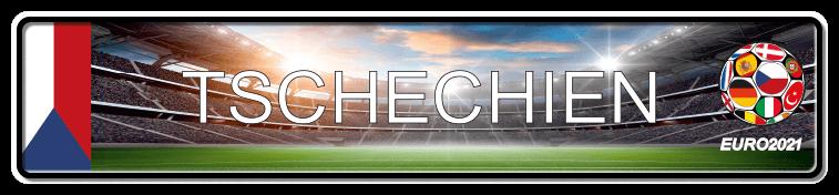 Funschild Fußball EURO EM 2021 Tschechien, bedruckt, 520x110 mm