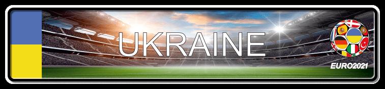 Funschild Fußball EURO EM 2021 Ukraine, bedruckt, 520x110 mm