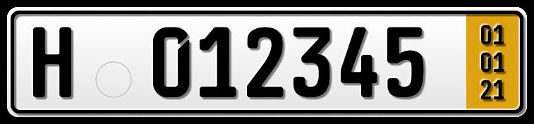 Anhänger Kurzzeit-Kennzeichen