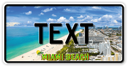 Funschild Miami Beach, 300x150 mm