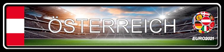 Funschild Fußball EURO EM 2021 Österreich, bedruckt, 520x110 mm