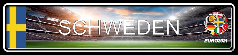Funschild Fußball EURO EM 2021 Schweden, bedruckt, 520x110 mm