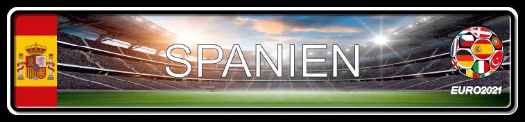 Funschild Fußball EURO EM 2021 Spanien, bedruckt, 520x110 mm