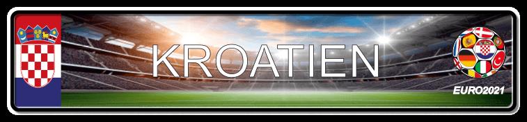 Funschild Fußball EURO EM 2021 Kroatien, bedruckt, 520x110 mm