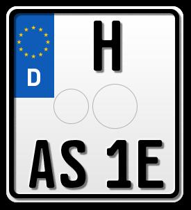 Motorrad G-elumic EURO E-Leuchtkennzeichen