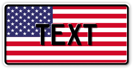 Funschild USA Nationalflagge, 300x150 mm